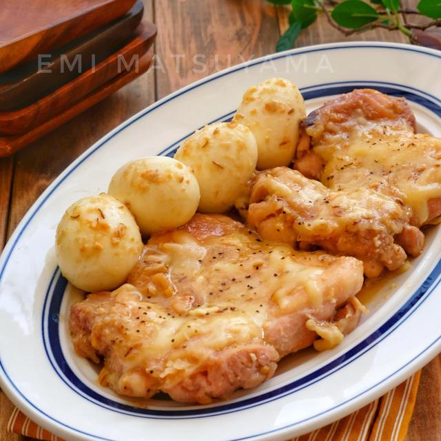 フライパンで簡単!*にんにく味噌チーズ鶏チャーシュー*フライパ...