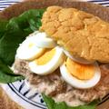 サンドイッチ欲全開。ふわパンの絶品たまごツナサンド(糖質3.8g) by ねこやましゅんさん