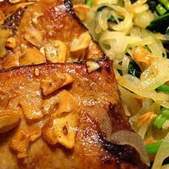カツオのガーリックソテーの簡単料理レシピ&ダイエットワンポイントアドヴァイス