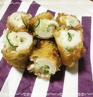 ポテトサラダのちくわ天ぷら!お弁当にも最適♪