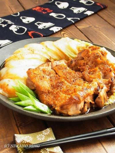 フライパンひとつで! 鶏肉と白菜の照り焼き柚子七味ステーキ