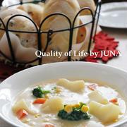 クランベリー&クリームチーズのソフトパンとヘルシーノンオイルシチュー