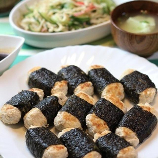ふわふわ海苔巻き豆腐つくね