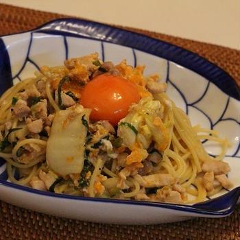 卵たっぷり♪鶏すき焼き風*パスタ☆彡