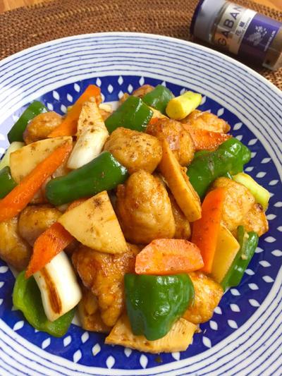 チキンと余り野菜 のオイスターソース炒め