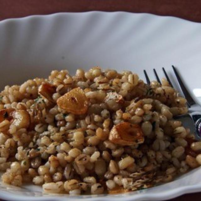 麦飯のペペロンチー二