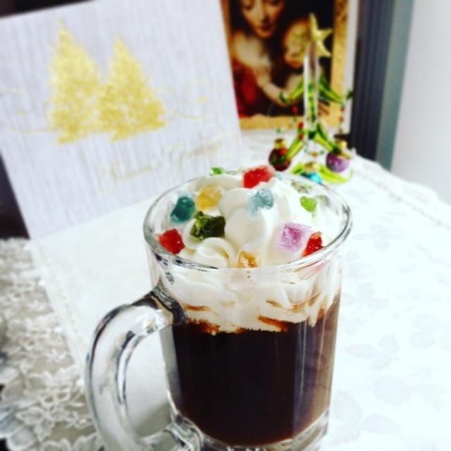 Merry Christmas ! 琥珀糖×コアントロー×コーヒーでほっこり♪
