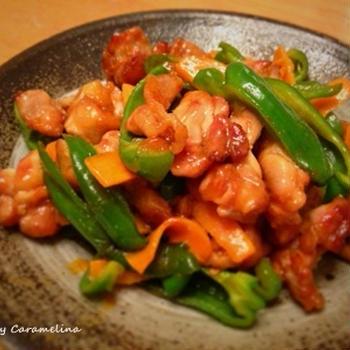 鶏肉とピーマンの中華炒め