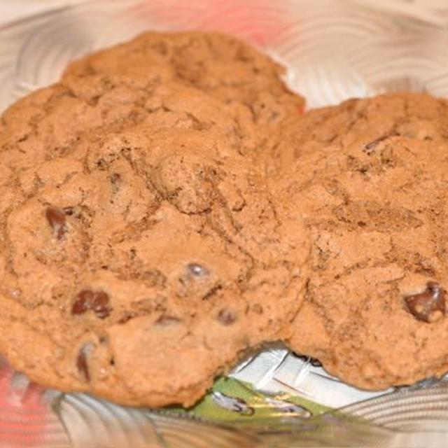 チョコレートのチョコレートチップクッキー♪