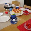 桃の節句のお祝いごはん*押し寿司と真鯛の塩焼き