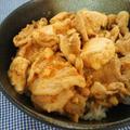 豚肉とちょっと余っちゃったお豆腐で♪ピリ辛スタミナ丼☆