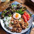 ♡カフェ風♡甘辛ミンチライス♡【#簡単レシピ#時短#節約#丼#ひき肉#春休み】