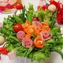 クックパッド 「サーモンサラダ」の人気検索で1位【生ハムとサーモンで母の日ブーケサラダ】