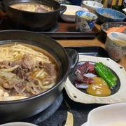 牛鍋、蛸の辛子酢味噌