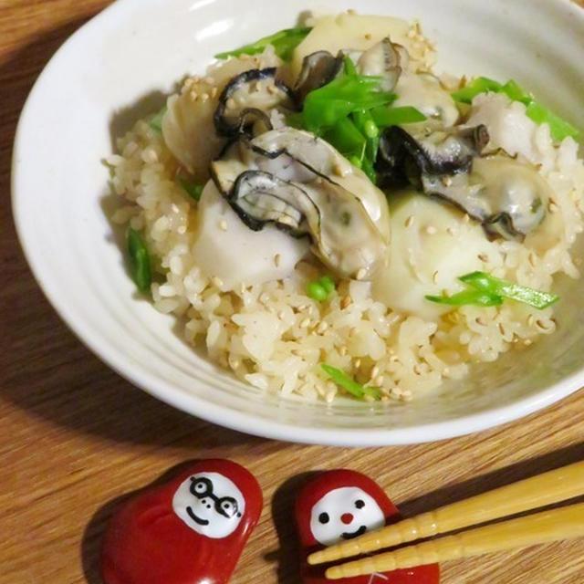 オイスターソースで作る里芋と牡蠣の炊き込みご飯