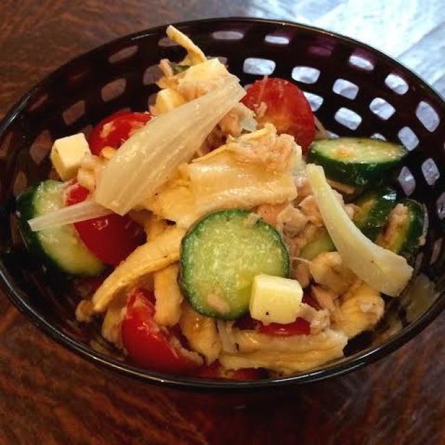 切り干し大根とツナのサラダ~らっきょうをきかせて。
