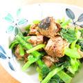 レンジで2分☆サバ缶と小松菜バター醤油