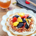 ゴロゴロ夏野菜と大豆ミートのトマトそうめん by kaana57さん