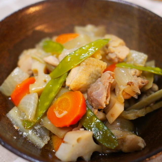 根菜と鶏のオイスターソース煮
