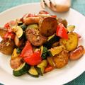 フライパン一つで簡単♪爽やかハーブで☆夏野菜のジャーマンポテト by すたーびんぐさん