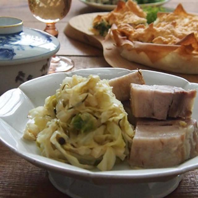豊菜JIKAN_塩豚とザワークラウト。