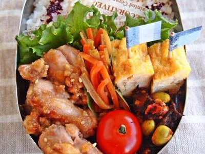 >鶏肉の蜂蜜くるみ味噌焼き弁当 by mochicoさん