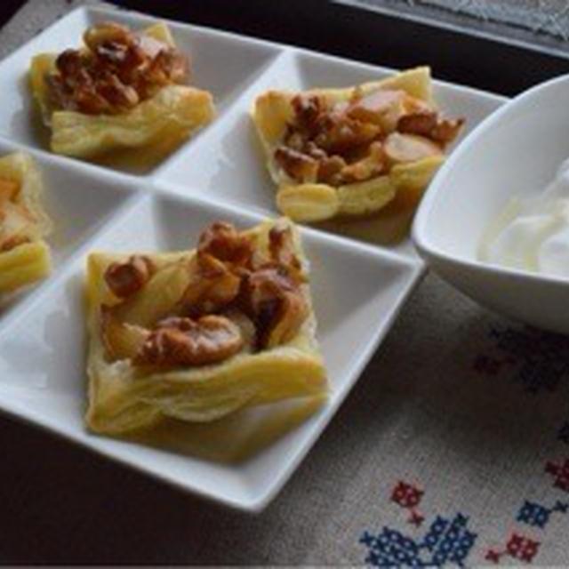 小岩井の乳製品で作る『くるみとりんごのミニパイ』