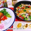 簡単過ぎる連子鯛のアクアパッツァ☆フライパンでチキンレッグステーキ