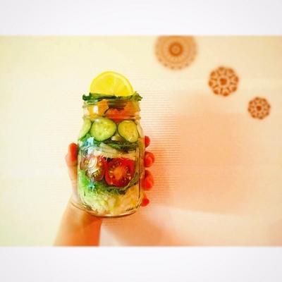□記事についてのお詫び。話題のジャーサラダでお花見にも彩りサラダ!簡単レシピ!□
