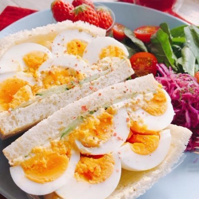 卵たっぷり5個入り!デビルサンドの作り方(動画有)