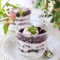 ブルーベリーと水切りヨーグルトのデザート☆(ちょっと気が早いけど)クリスマス用のデザートにもお勧めです!
