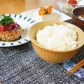 梅しそ風味ハンバーグ定食