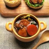 牡蠣と鶏肉のブラウンシチュー