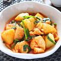 鶏胸肉とじゃがいもの韓国風鶏じゃが【キムチ×ニラのダイエット煮物】|レシピ・作り方