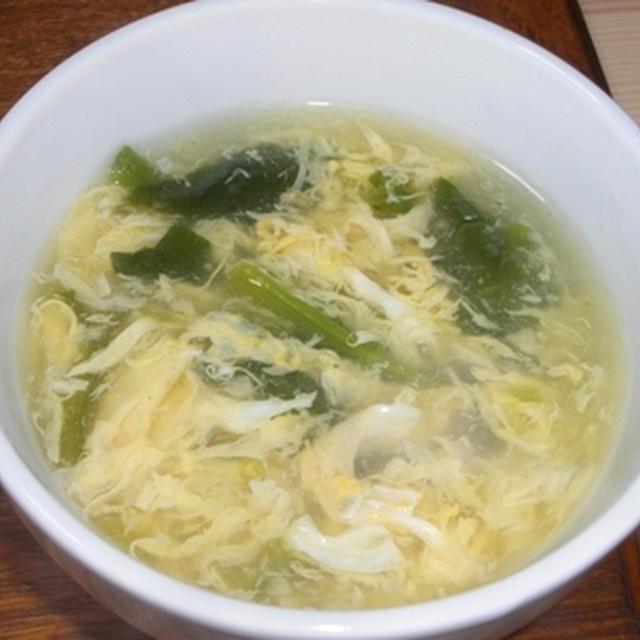 ほうれん草の卵スープ