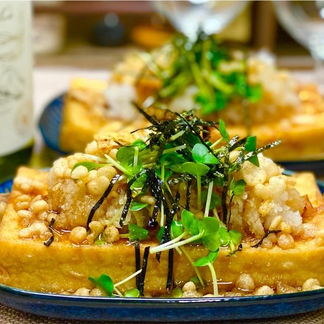 【レシピ】レンジで簡単♬厚揚げの揚げ出し豆腐風♬