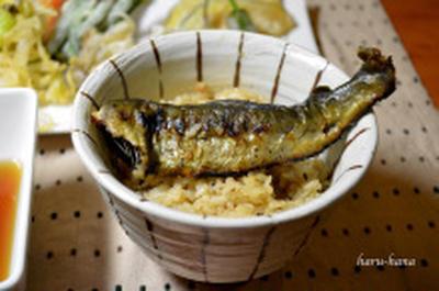 鮎の炊き込みご飯と野菜天ぷら☆