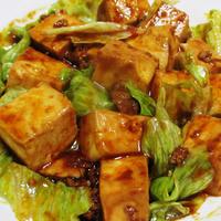 レタス麻婆豆腐<レトルト調味料で簡単>