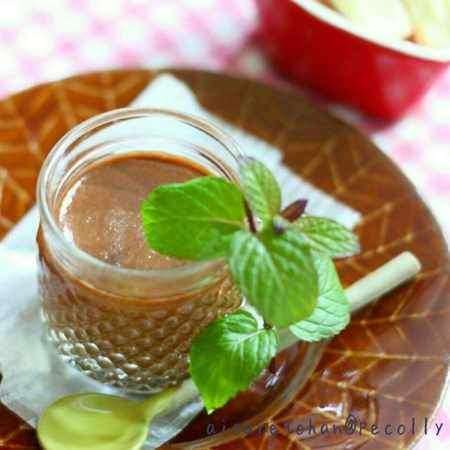 豆腐の生チョコプリン