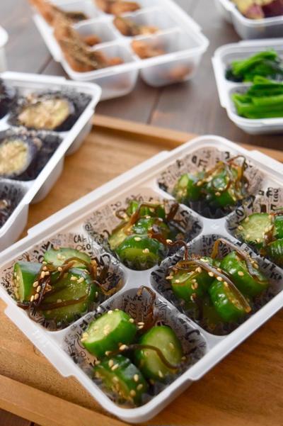 【レシピ】 きゅうりと胡麻の塩昆布漬け#小分け冷凍おかず