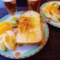 楽チン朝ごはんは自家製山食パンdeトースト♪
