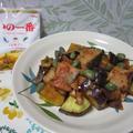 秋サケとサツマイモのバター醤油炒め