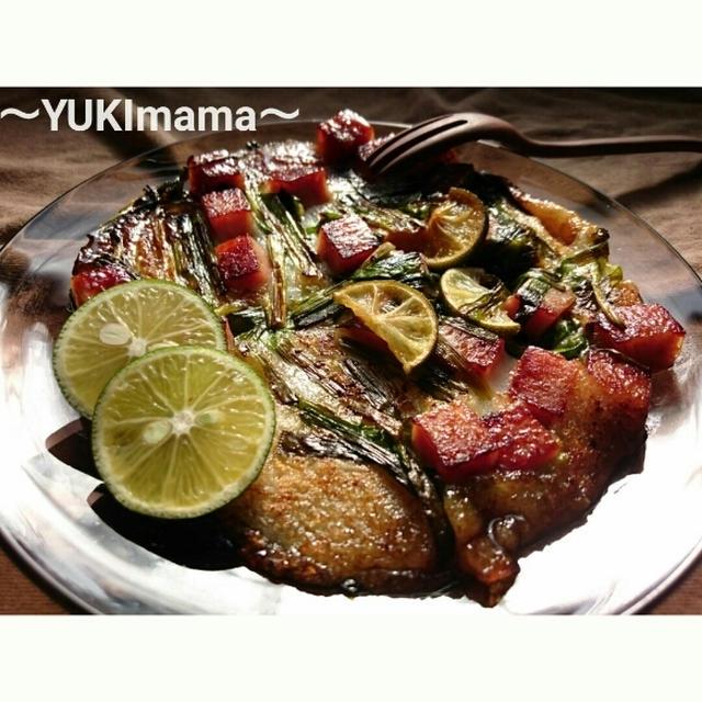 徳島県すだちレシピ大使★~スパムとにらの美味しいお餅すだちてりやき風味~お正月に食べたいレシピ