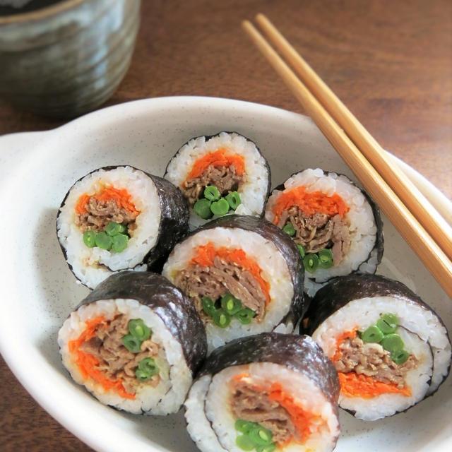焼肉巻き寿司と、かんたんに巻くコツ