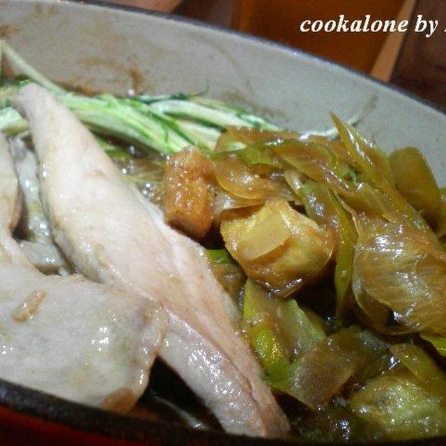 下仁田ネギでねぎまの煮物