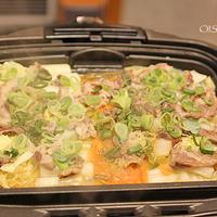 白菜ネギお肉のホットプレートおだしレシピ