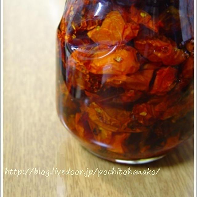 ドライトマトと新生姜の甘酢漬け。