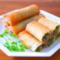さば味噌と小松菜の春巻き♪さば缶で簡単おつまみ家飲みレシピ