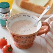 トマトとバジルのレンチンカップスープ