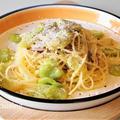 おひとりさまランチ☆そら豆と生ハムのスパゲッティ☆